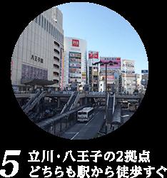 5 JR八王子駅徒歩1分、京王八王子駅徒歩4分 好アクセス